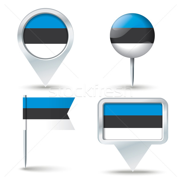 Mapa bandeira Estônia negócio estrada branco Foto stock © ojal