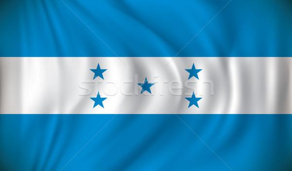 флаг Гондурас синий звездой стране рисунок Сток-фото © ojal