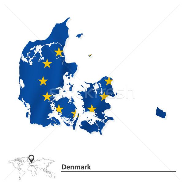карта Дания европейский Союза флаг аннотация Сток-фото © ojal