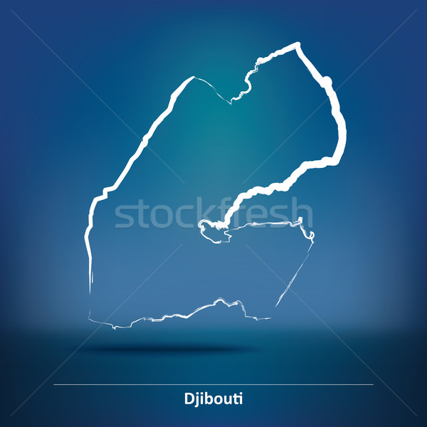 Doodle Map of Djibouti Stock photo © ojal