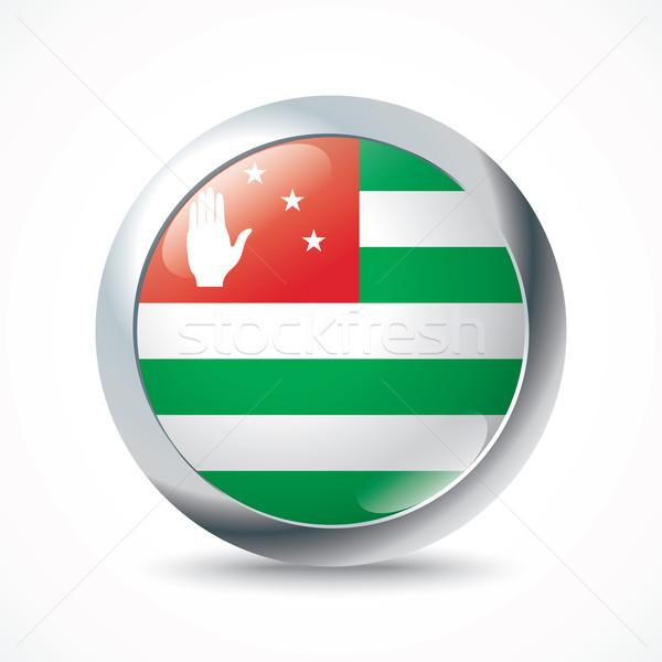 Abkhazia flag button Stock photo © ojal