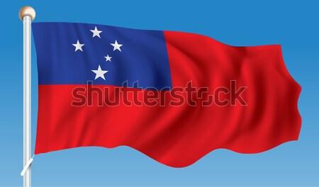 Flag of Samoa Stock photo © ojal
