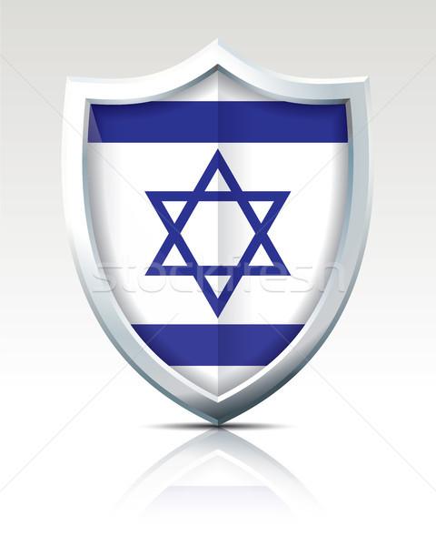 Kalkan bayrak İsrail doku sanat mavi Stok fotoğraf © ojal