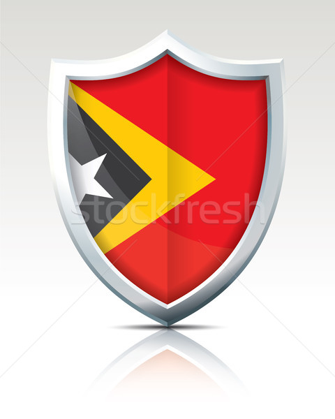 Shield with Flag of Timor-Leste Stock photo © ojal