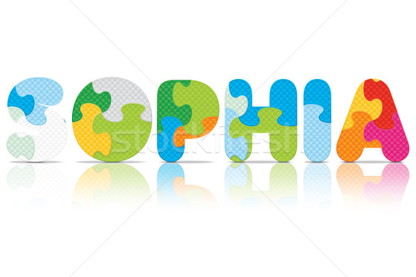 Vector SOPHIA written with alphabet puzzle Stock photo © ojal