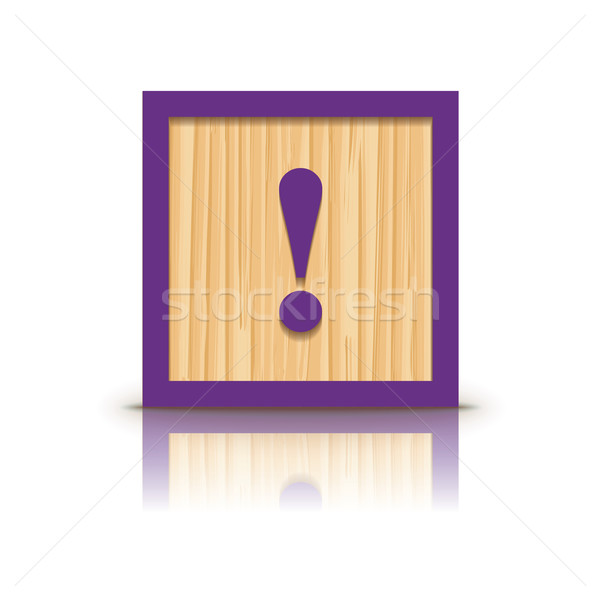 Vector exclamation point wooden alphabet block Stock photo © ojal