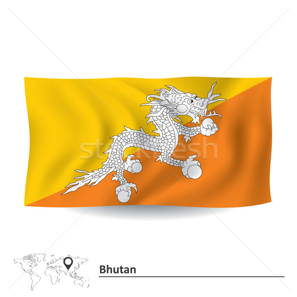 Bandeira Butão água abstrato mundo terra Foto stock © ojal