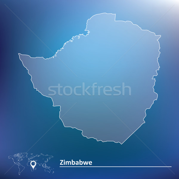 Carte Zimbabwe texture design signe Afrique Photo stock © ojal