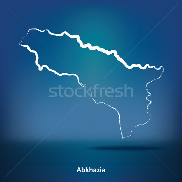 Doodle Map of Abkhazia Stock photo © ojal