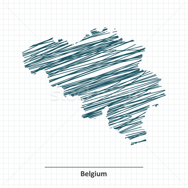 Doodle sketch of Belgium map Stock photo © ojal