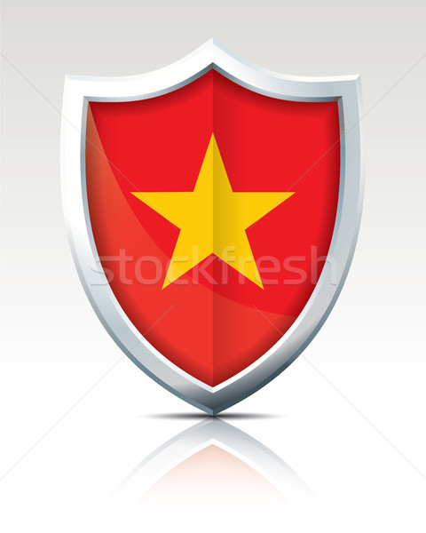 Shield with Flag of Vietnam Stock photo © ojal