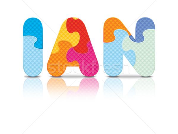 Vector IAN written with alphabet puzzle Stock photo © ojal