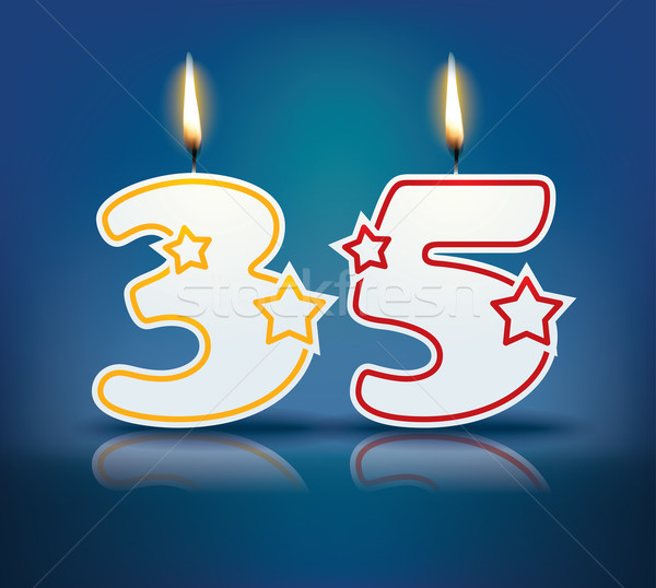 Birthday candle number 35 Stock photo © ojal