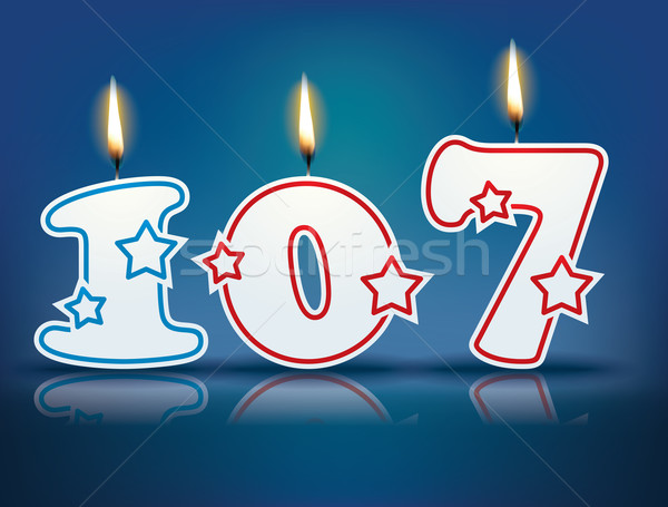 Birthday candle number 107 Stock photo © ojal