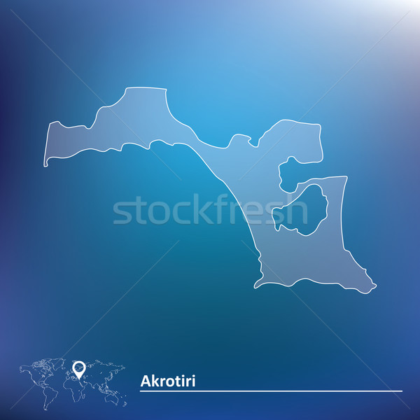 Map of Akrotiri Stock photo © ojal