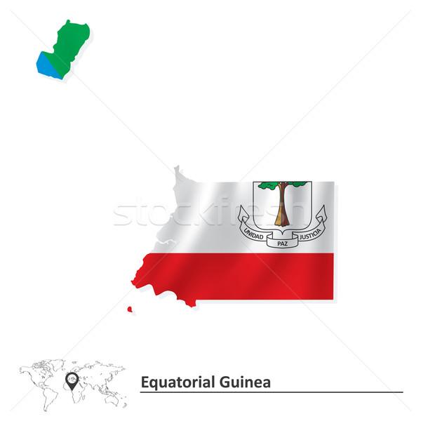 карта Экваториальная Гвинея флаг аннотация искусства путешествия Сток-фото © ojal