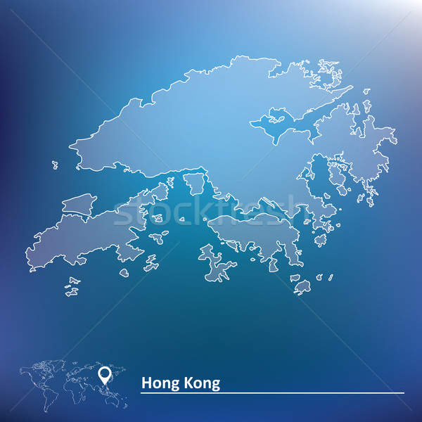 Map of Hong Kong Stock photo © ojal
