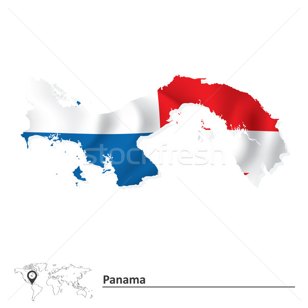 Térkép Panama zászló textúra terv háttér Stock fotó © ojal