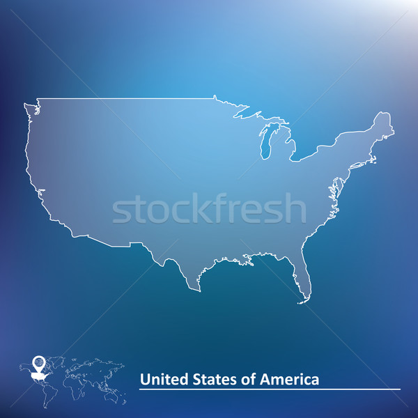 Map of United States of America Stock photo © ojal