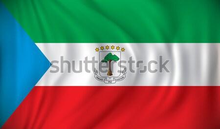 Vlag Equatoriaal-Guinea abstract achtergrond witte grafiek Stockfoto © ojal