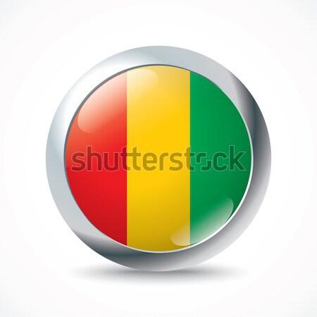 Guinea zászló gomb textúra világ utazás Stock fotó © ojal