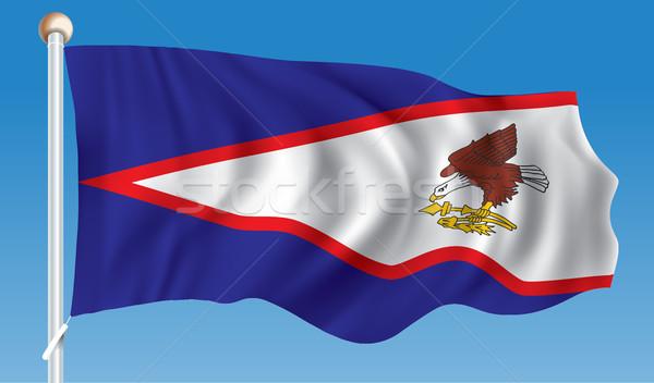 Bandeira Samoa Americana negócio mundo terra arte Foto stock © ojal