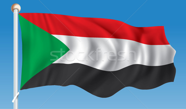 Flag of Sudan Stock photo © ojal