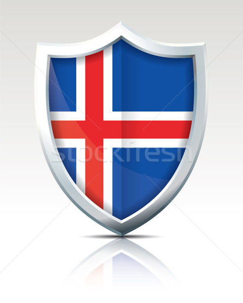 Shield with Flag of Iceland Stock photo © ojal