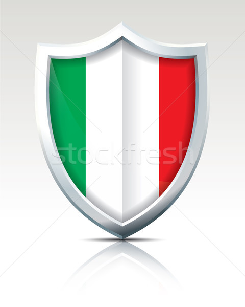 Schild vlag Italië ontwerp wereld achtergrond Stockfoto © ojal