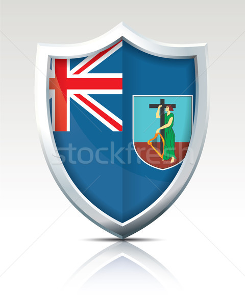 Shield with Flag of Montserrat Stock photo © ojal