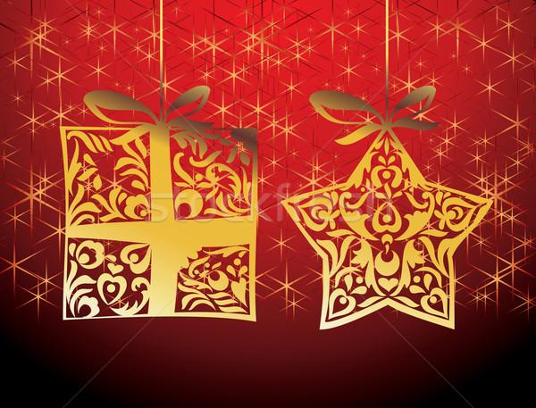 ベクトル クリスマス デザイン 要素 抽象的な パターン ストックフォト © ojal
