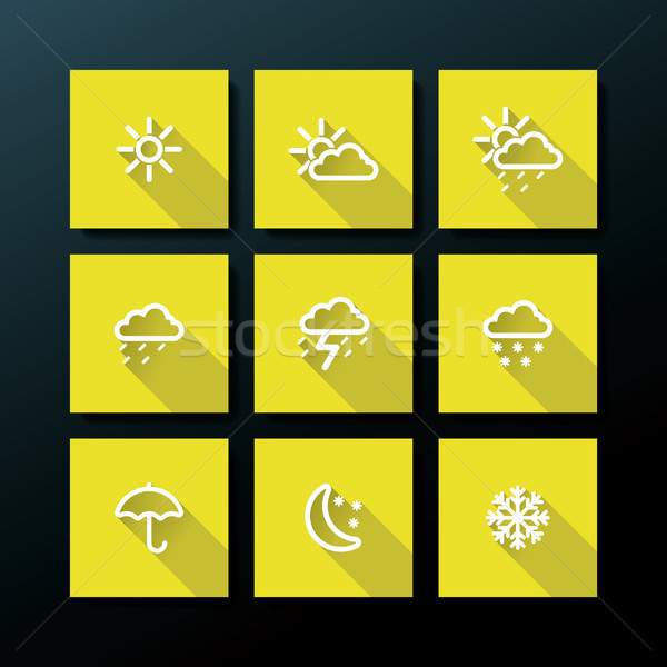 Weather icon set Stock photo © ojal