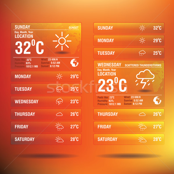 Weather widget app for mobile Stock photo © ojal