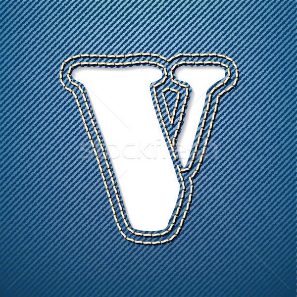 Stockfoto: Denim · jeans · brief · weefsel · doek · mooie