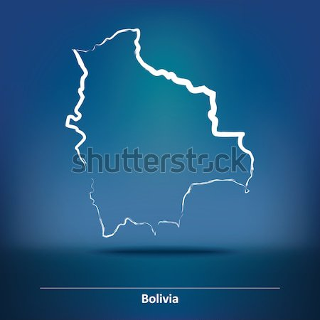 Map of French Guiana Stock photo © ojal