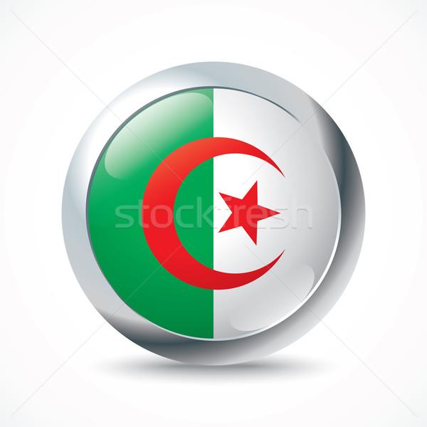 Алжир флаг кнопки аннотация Мир кадр Сток-фото © ojal