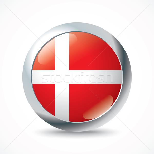 Danimarka bayrak düğme soyut arka plan toprak Stok fotoğraf © ojal