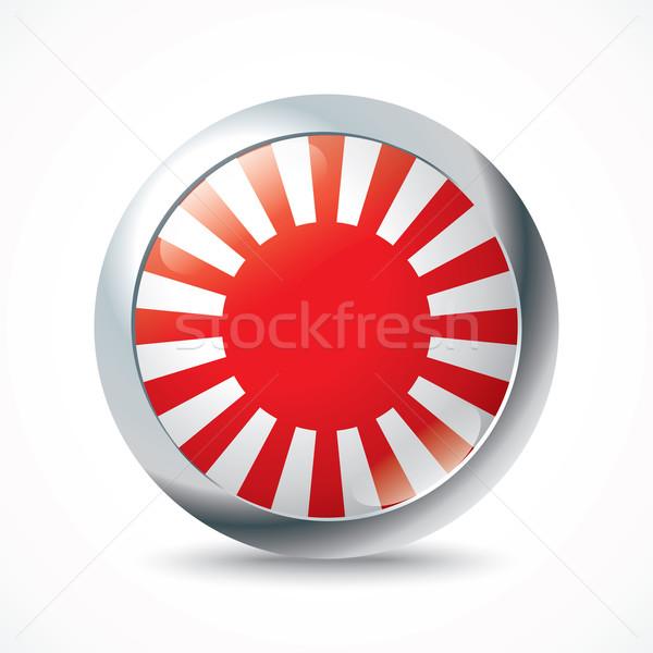 Japán háború zászló gomb textúra világ Stock fotó © ojal