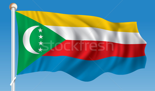 Flag of Comoros Stock photo © ojal
