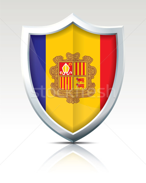 Shield with Flag of Andorra Stock photo © ojal