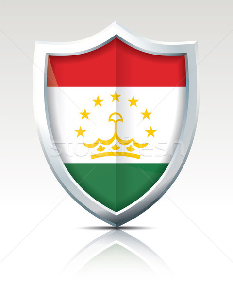 Shield with Flag of Tajikistan Stock photo © ojal