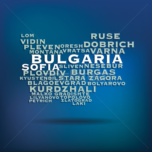 Bulgarie carte nom villes résumé design Photo stock © ojal