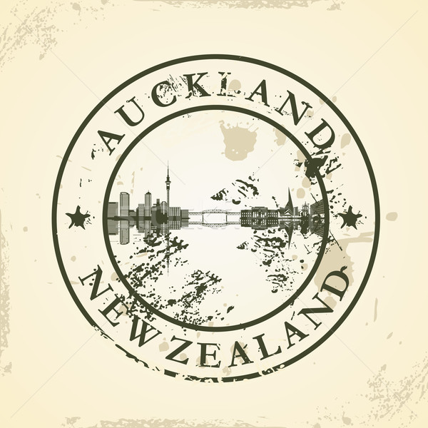 Grunge rubber stamp with Auckland, New Zealand Stock photo © ojal