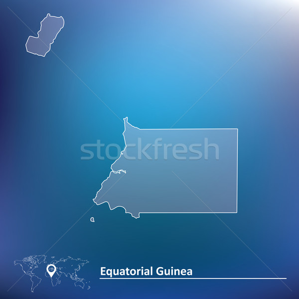 Mapa Guiné Equatorial abstrato arte viajar traçar Foto stock © ojal