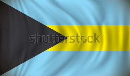 Flag of Bahamas Stock photo © ojal