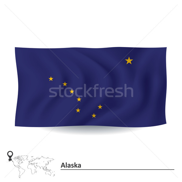 Bandeira Alasca abstrato assinar azul cor Foto stock © ojal