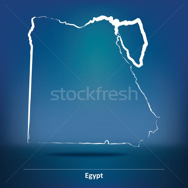 いたずら書き 地図 エジプト 市 抽象的な ウェブ ストックフォト © ojal