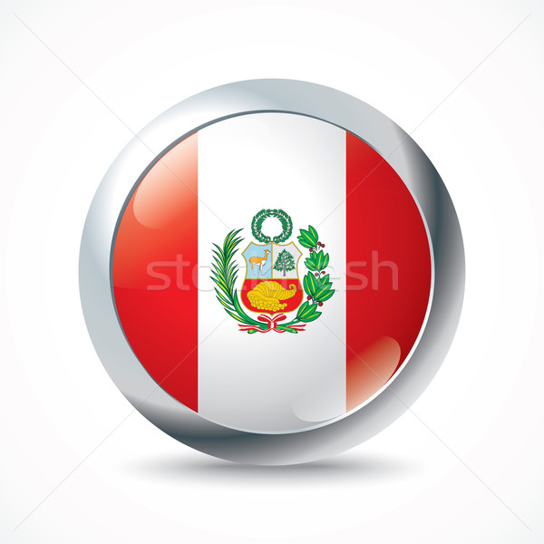 Perú bandera botón textura signo viaje Foto stock © ojal