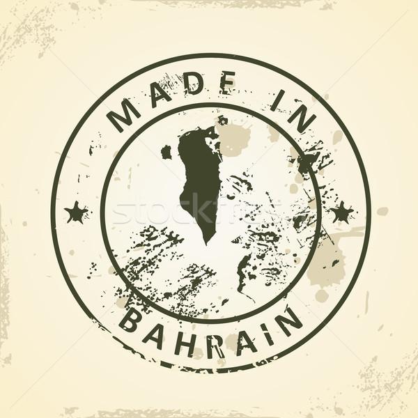 Damga harita Bahreyn grunge dizayn imzalamak Stok fotoğraf © ojal