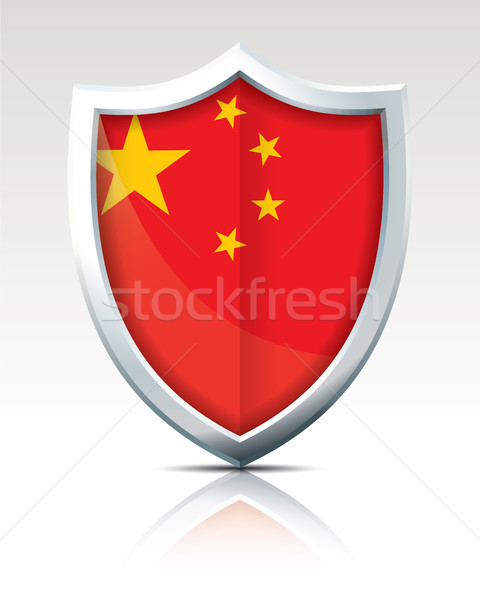 Shield with Flag of China Stock photo © ojal